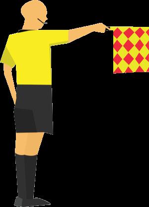 Referee offside flag